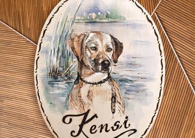 Brandmalerei nach Wunschmotiv ZellamSee Lieferung Post Bestellung online indivudelles Kunsthandwerk Geschenk Atelier Halili Hund Hundebesitzer Geschenk