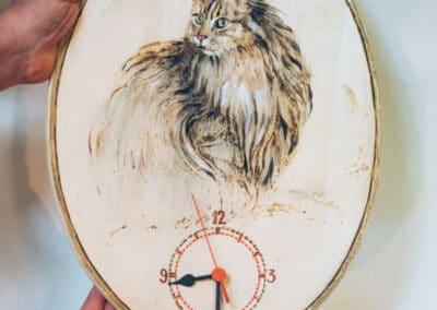 Brandmalerei nach Wunschmotiv ZellamSee Lieferung Post Bestellung online indivudelles Kunsthandwerk Geschenk Atelier Halili Katzen Motiv Geschenk fuer Katzenliebhaber